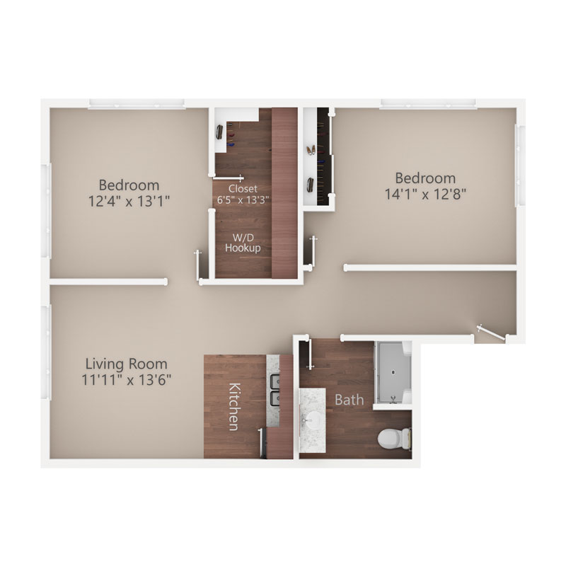 Sycamore Reserve Senior Living Cypress apartment floor plan