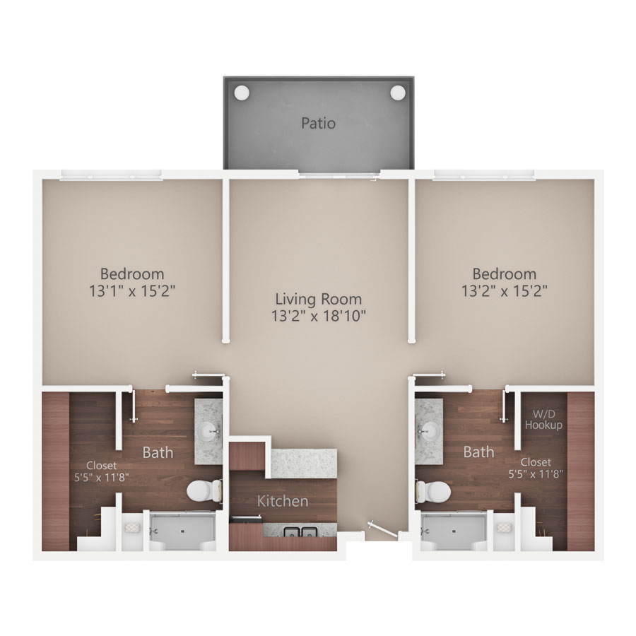 Sycamore Reserve Senior Living River Birch apartment floor plan